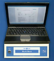 Nutribox mit Notebook und Messformular