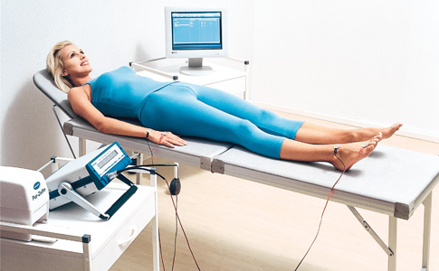 Patient during the BIA measurement