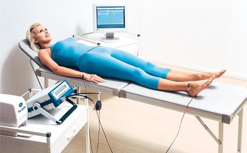 Patient während der BIA Messung